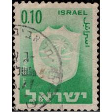 1965-1975. Почтовая марка Израиля. Герб, 0.10
