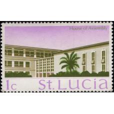 1970-1975, февраль. Почтовая марка Сент-Люсии. Достопримечательности, 1C