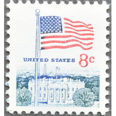 1968. США, Флаг над Белым домом, 8 центов