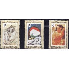 1993. Набор марок Гамбии. 20-летие со дня смерти Пабло Пикассо, 1881-1973