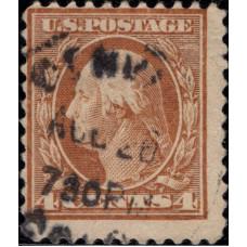 1916. Почтовая марка США. Джордж Вашингтон, 4 цента