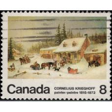 1972, ноябрь. Почтовая марка Канады. 100-летие со дня смерти художника Корнелиуса Кригоффа, 8С
