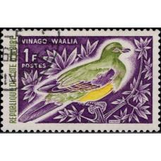1966, май. Почтовая марка Кот-д'Ивуар, Берег Слоновой Кости. Птицы, 1Fr