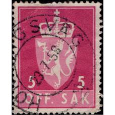 1955-1974. Почтовая марка Норвегии. Гербы, 5 øre