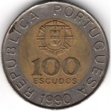 100 эскудо 1990 Португалия - 100 escudos 1990 Portugal