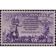 1952, октябрь. Почтовая марка США. Газета Мальчики, 3 цента