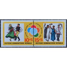 1962, июль. Набор почтовых марок ГДР. Молодежный фестиваль в Гельсингфорсе