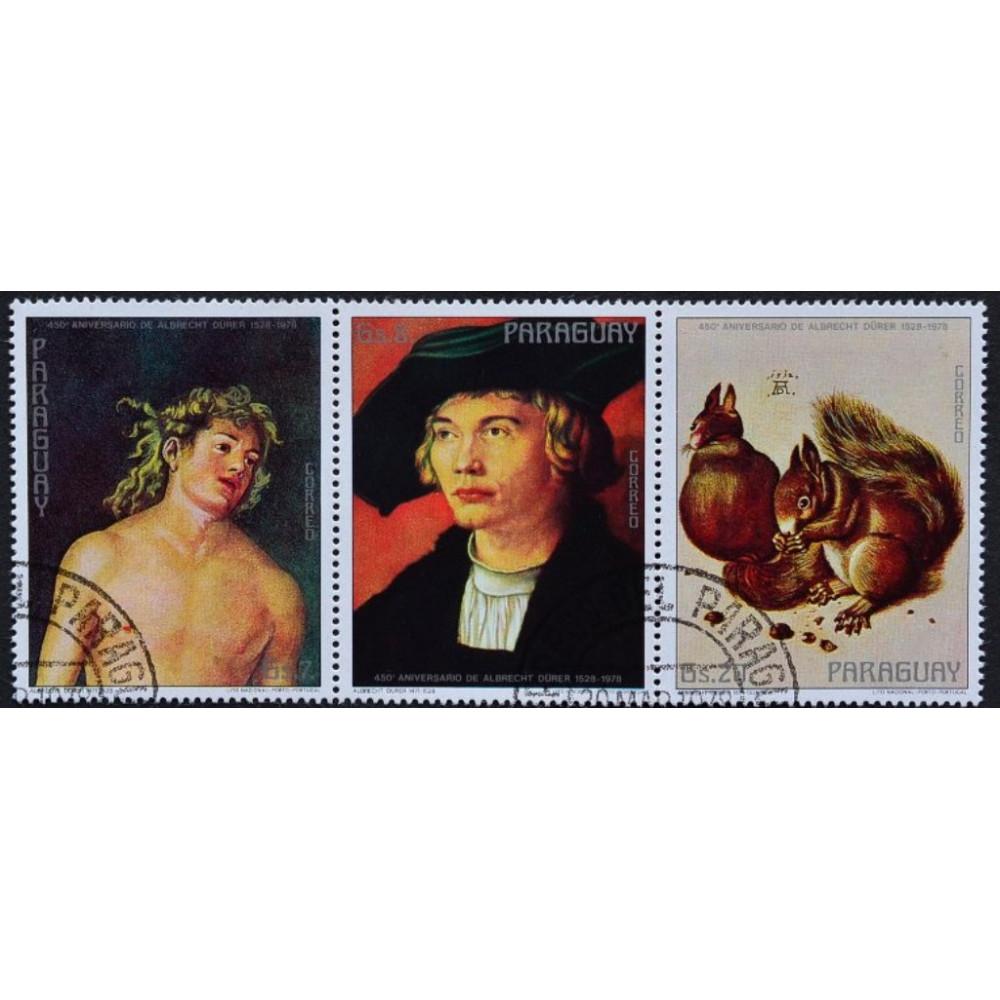 1978, март. Набор почтовых марок Парагвая. 450 лет со дня смерти Альбрехта Дюрера