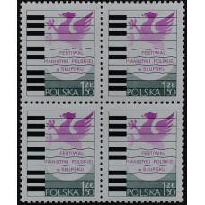 1977, сентябрь. Почтовая марка Польши. Фестиваль польского пианино в Слупске, 1.50 Zł
