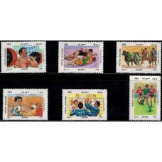 1985, октябрь. Набор почтовых марок Афганистана. Спорт