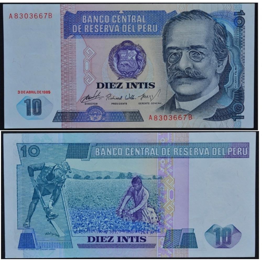 10 Инти 1985 Перу - 10 Intis 1985 Peru