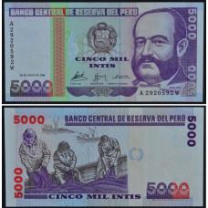 5000 Инти 1988 Перу - 5000 Intis 1988 Peru