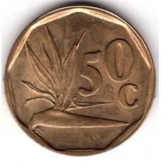50 центов 1992 ЮАР - 50 cents 1992 South Africa, из оборота