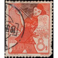 1959, сентябрь. Почтовая марка Китая. 1-я годовщина народных коммун, 8分