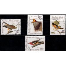 1985, январь. Набор почтовых марок Коморских островов. Птицы - 200 лет со дня рождения Джона Дж. Одюбона. Авиапочта