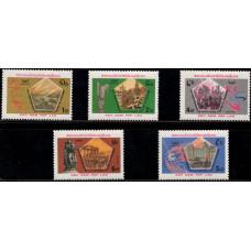 1985, май. Набор почтовых марок Лаоса. 40 лет окончания Второй мировой войны