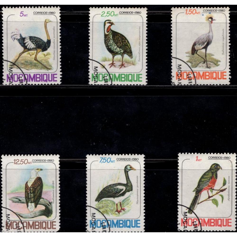 1980, июль. Набор почтовых марок Мозамбика. Птицы