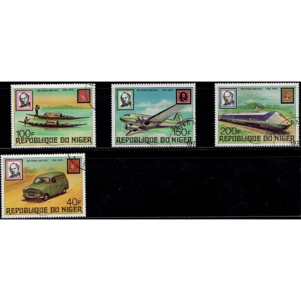 1979, июнь. Набор почтовых марок Нигера. 100 лет со дня смерти сэра Роуленда Хилла