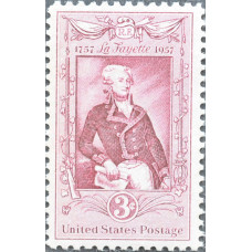 1957 Сентябрь. США, Лафайет, 3 цента