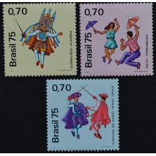 1975, август. Набор почтовых марок Бразилии. Народные танцы, 0.70