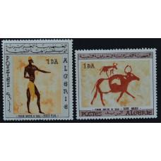 1966, январь. Набор почтовых марок Алжира. Наскальные рисунки