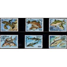 1980, ноябрь. Набор почтовых марок Кабо-Верде. Морская жизнь