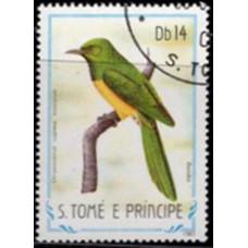 1983, декабрь. Почтовая марка Сан-Томе и Принсипи. Птицы, 14Db