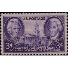 1946, июнь. Почтовая марка США. 150-летие государственности Теннесси, 3 цента