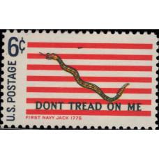 1968. Почтовая марка США. Исторические флаги, 6 центов