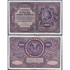 1000 марок 1919 Польша - 1000 marek 1919 Poland