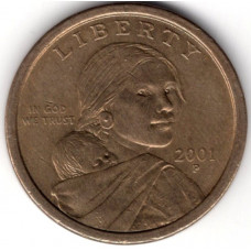 1 доллар 2001 США, P - 1 dollar 2001 USA, P