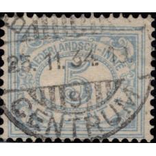 1928-1930. Почтовая марка Голландской Ост-Индии. Цифровые марки, 5C