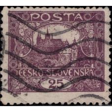 1919-1920. Почтовая марка Чехословакии. Стандартный выпуск, 25H