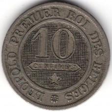 10 сантимов 1862 Бельгия - 10 centimes 1862 Belgium