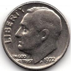 1 дайм (10 центов) 1972 США - 1 dime (10 cents) 1972 USA, из оборота