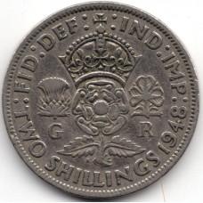 2 шиллинга 1948 Великобритания - 2 shillings 1948 Great Britain