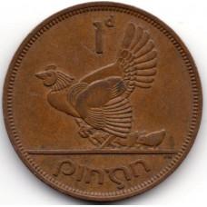 1 пенни 1964 Ирландия - 1 penny 1964 Ireland, из оборота