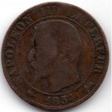 10 сантимов 1854 Франция (D) - 10 centimes 1854 France (D)