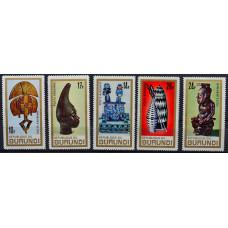 1967, июнь. Набор почтовых марок Бурунди. Африканское искусство