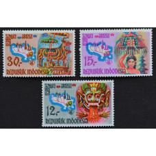 1969, июль. Набор почтовых марок Индонезии. Фольклор