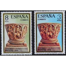 1974, ноябрь. Набор почтовых марок Испании. Рождество