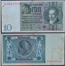 10 рейхсмарок 1929 Германия - 10 Reichsmark 1929 Germany