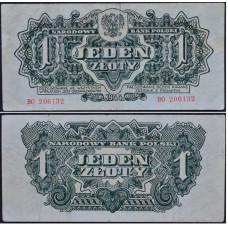 1 злотый 1944 Польша - 1 zloty 1944 Poland