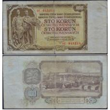 100 крон 1953 Чехословакия - 100 Korun 1953 Czechoslovakia