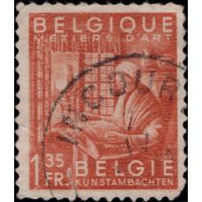 1948-1949. Почтовая марка Бельгии. Национальная индустрия, 1.35Fr