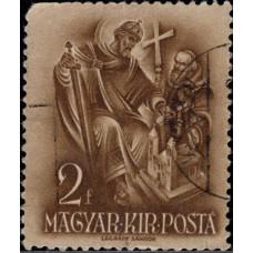 1938, январь. Почтовая марка Венгрии. 900 лет со дня смерти св. Стефана, 2f