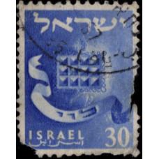 1955-1956. Почтовая марка Израиля. Двенадцать колен Израиля, 30