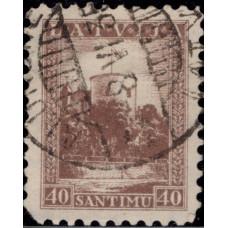 1934, декабрь. Почтовая марка Латвии. Ежедневные марки, 40S