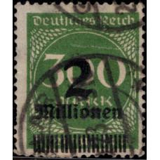 1923. Почтовая марка Германской империи, Германский Рейх. Ежедневные марки, 300Mk