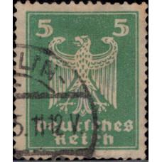 1924. Почтовая марка Германской империи, Германский Рейх. Новый Национальный Орел, 5Pfg